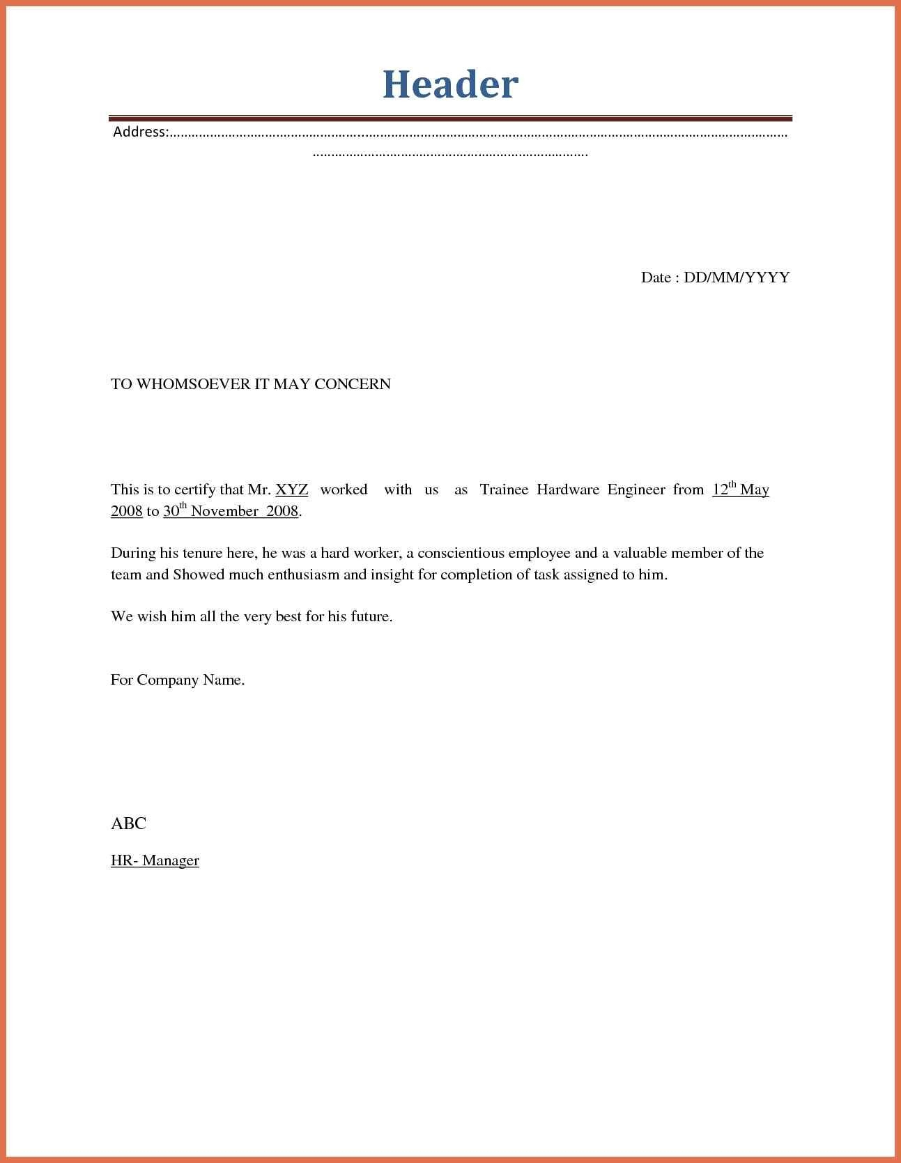 Separation Letter to Employee Template - Sample Job Abandonment Letter New Job Abandonment Letter Sample Best