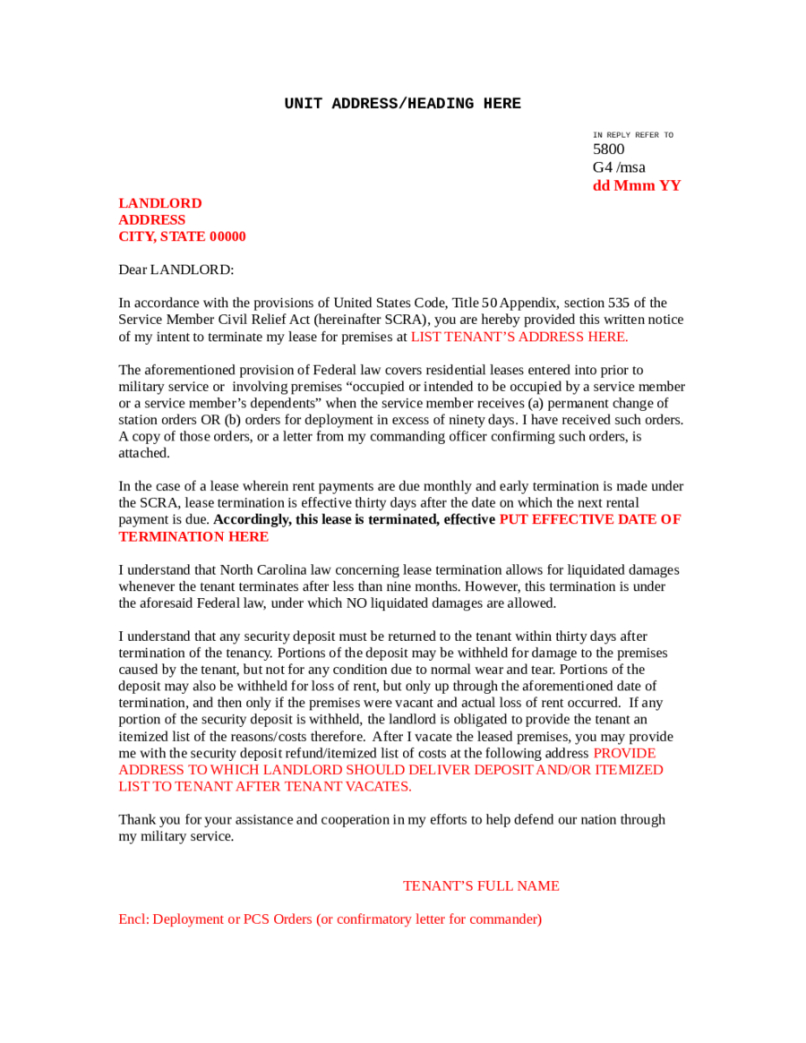 Early Lease Termination Letter to Landlord Template - Sample Lease Termination Agreement Image Collections Agreement