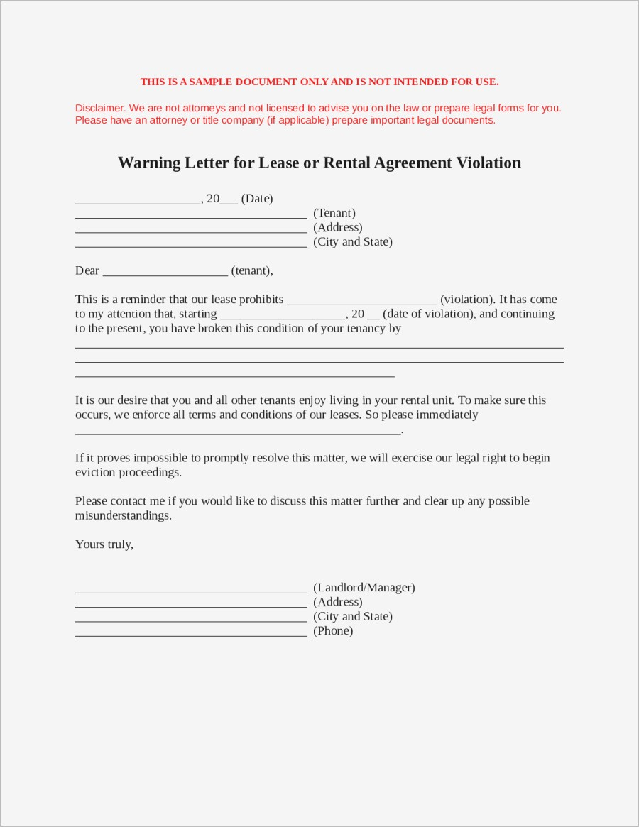Breaking Lease Agreement Letter Template - Sample Letter to Break Lease Samples