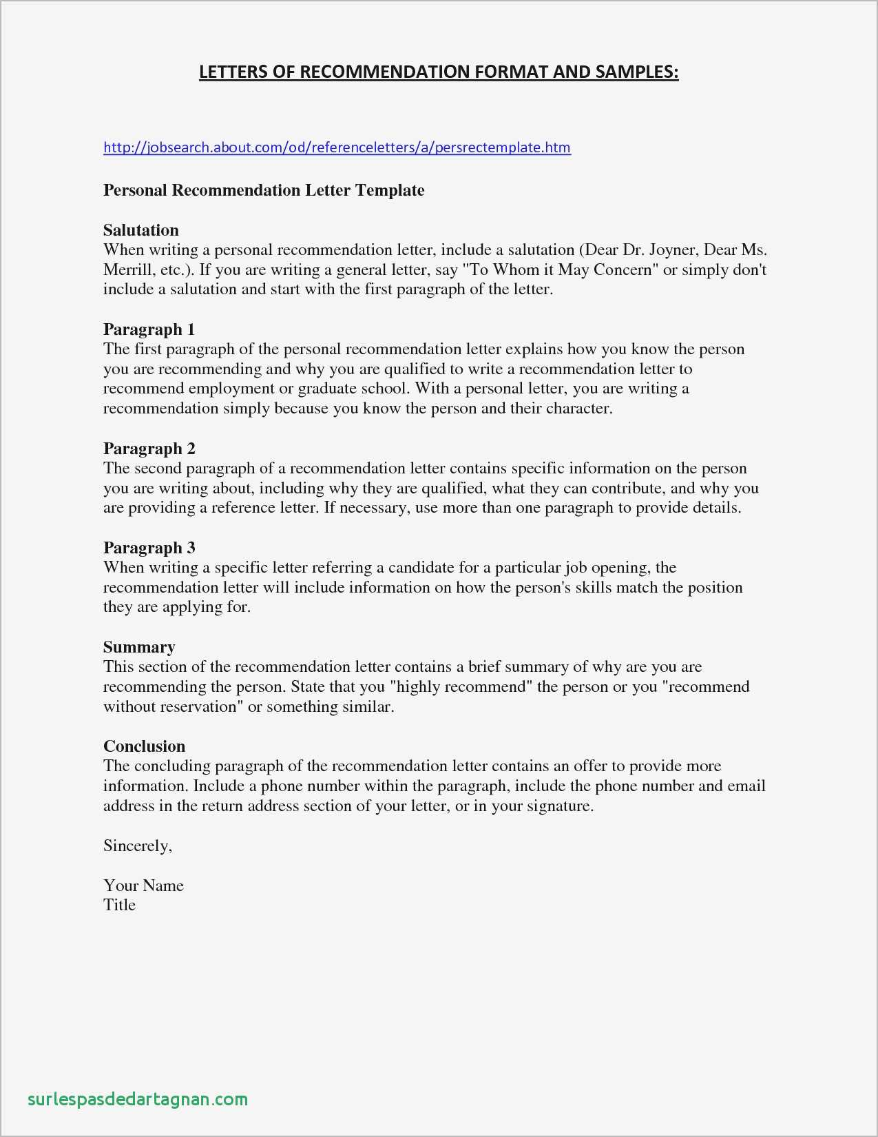 Free Character Reference Letter Template - Sample Personal Reference Letter for A Friend Samples Inspirational