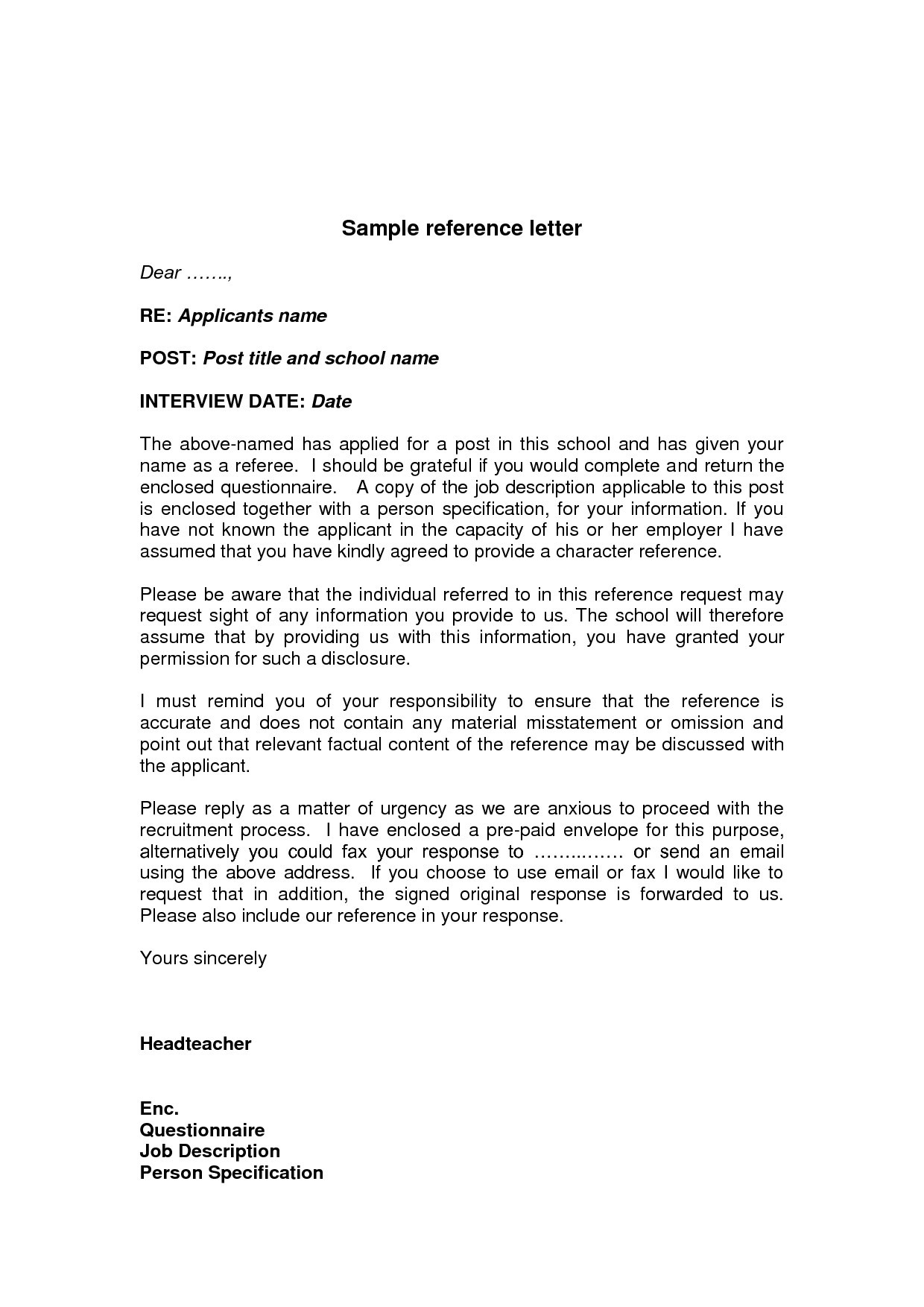 Business Referral Letter Template - Sample Personalcharacter Reference Letter Created Using Ms Word