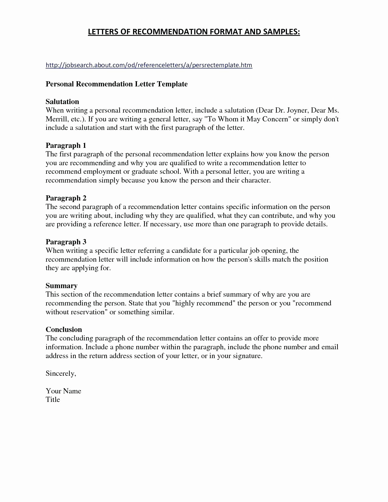 Startup Offer Letter Template - Sample Personalcharacter Reference Letter Created Using Ms Word