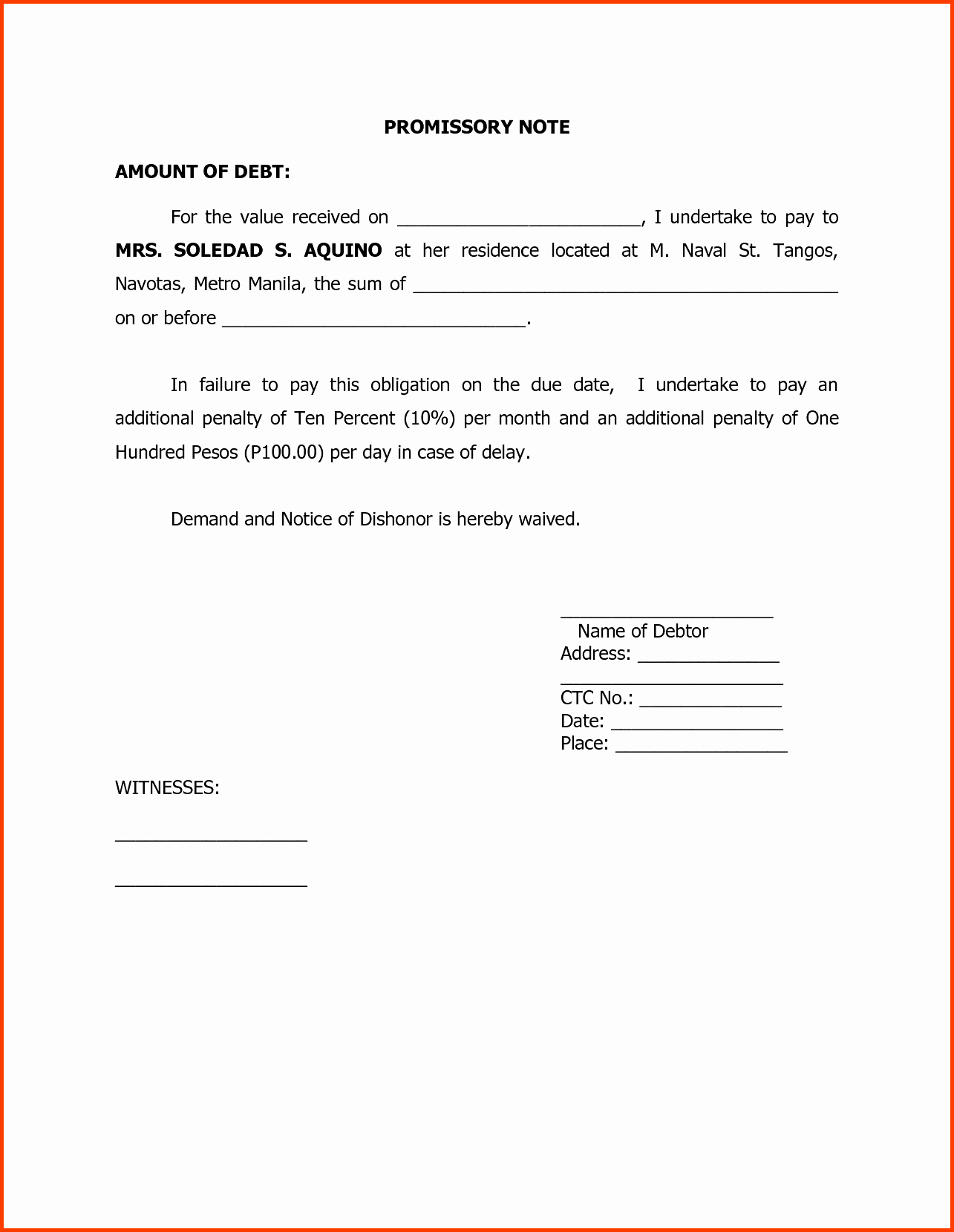 Demand Letter Promissory Note Template - Sample Promissory Note to Pay Debt Elegant Sponsorship Agreement