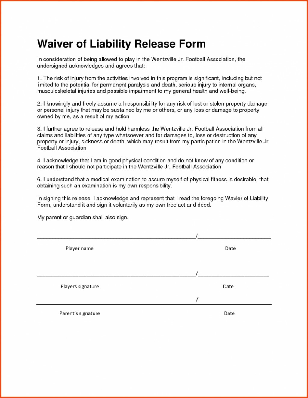Hold Harmless Letter Template - Sample Release form Lovely Hold Harmless Agreement Beautiful