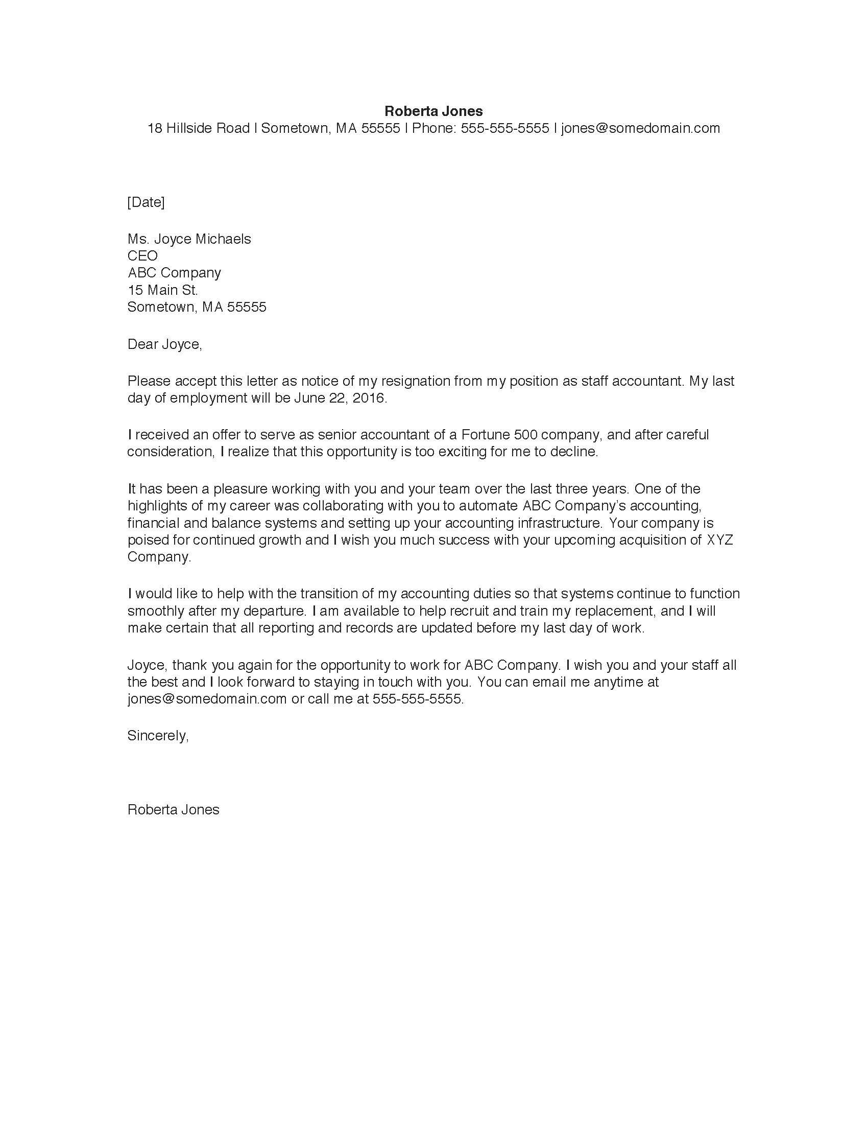 Cpa Letter for Self Employed Template - Sample Resignation Letter