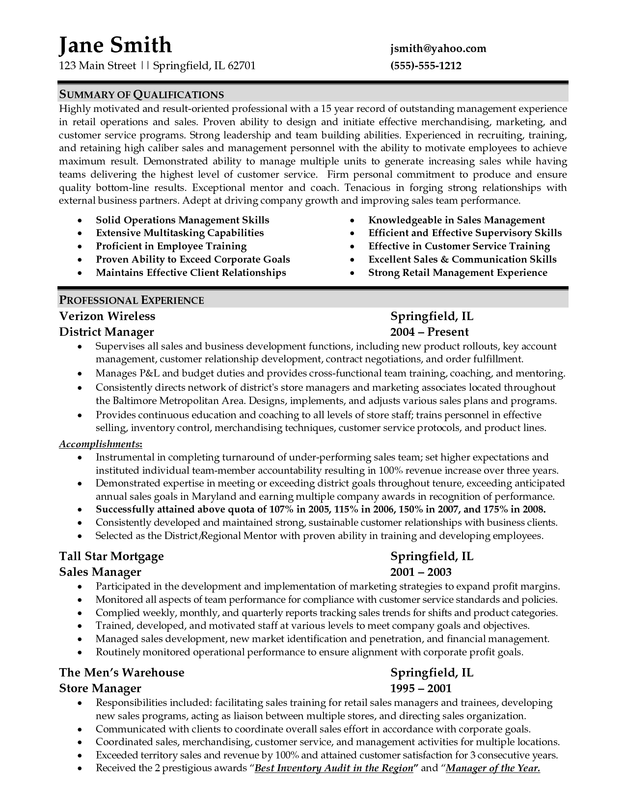 warehouse manager cover letter template example-sample resume for retail management job 17-p