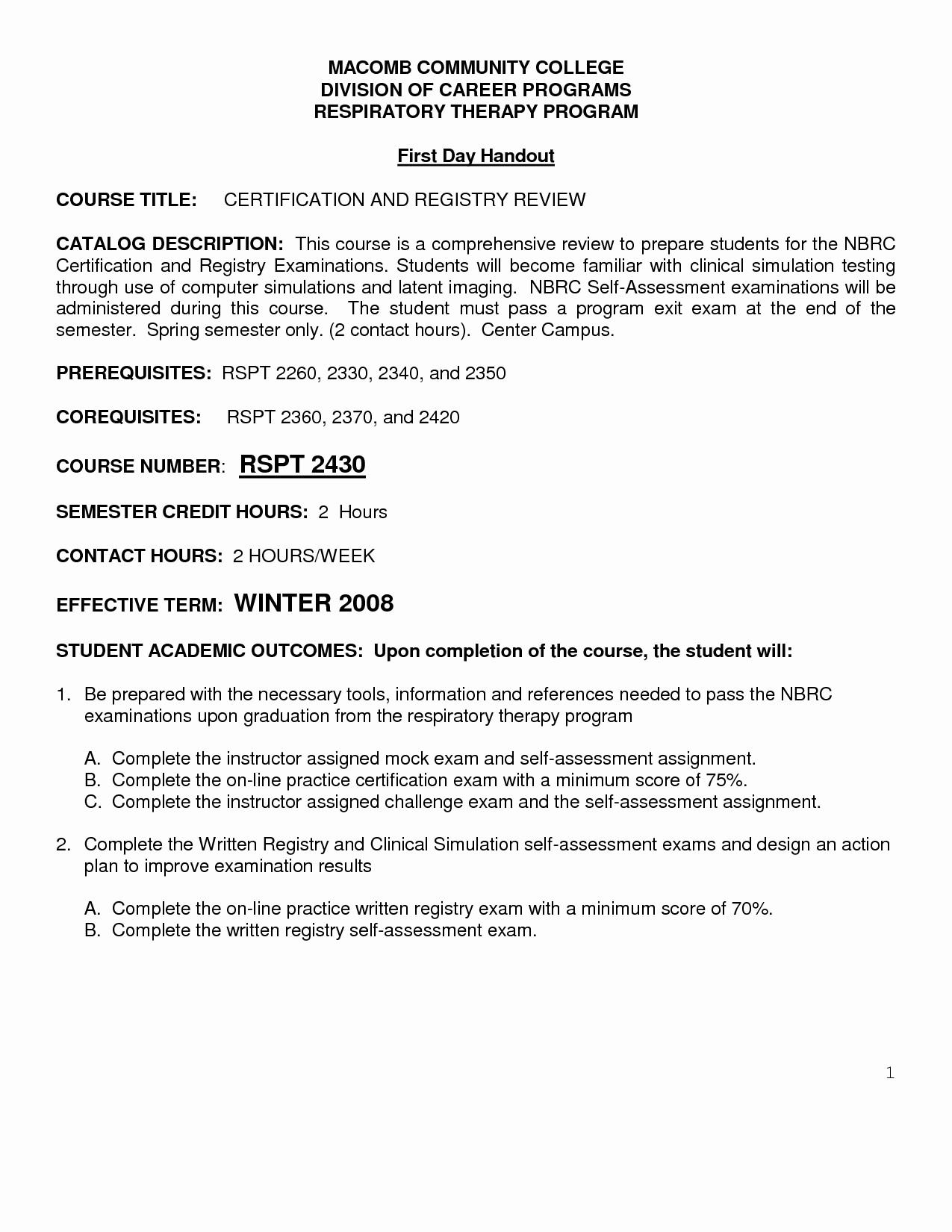 Respiratory Therapy Cover Letter Template