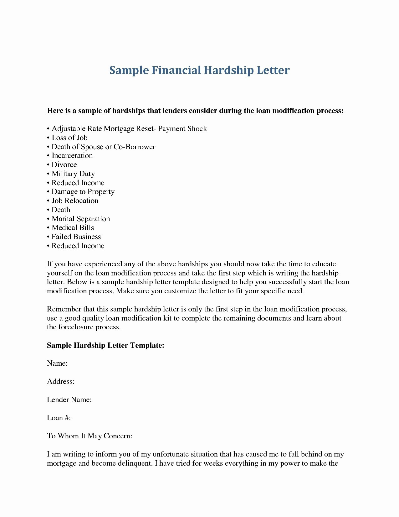 Mortgage Payment Shock Letter Template - Sample School Character Certificate Archives Refrence Sample