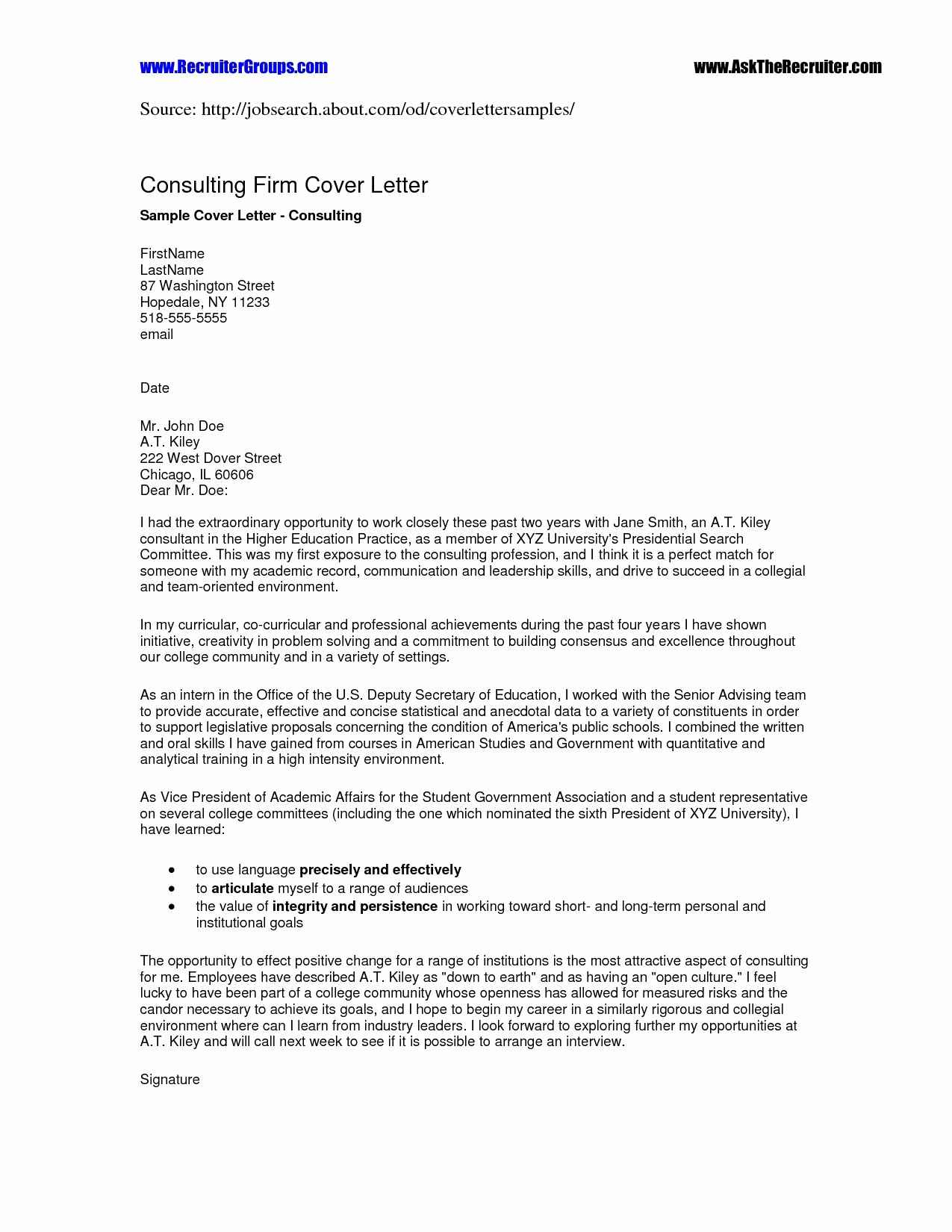 Targeted Cover Letter Template - Sample Tar Ed Cover Letter for A Resume Amazing Sample Cover