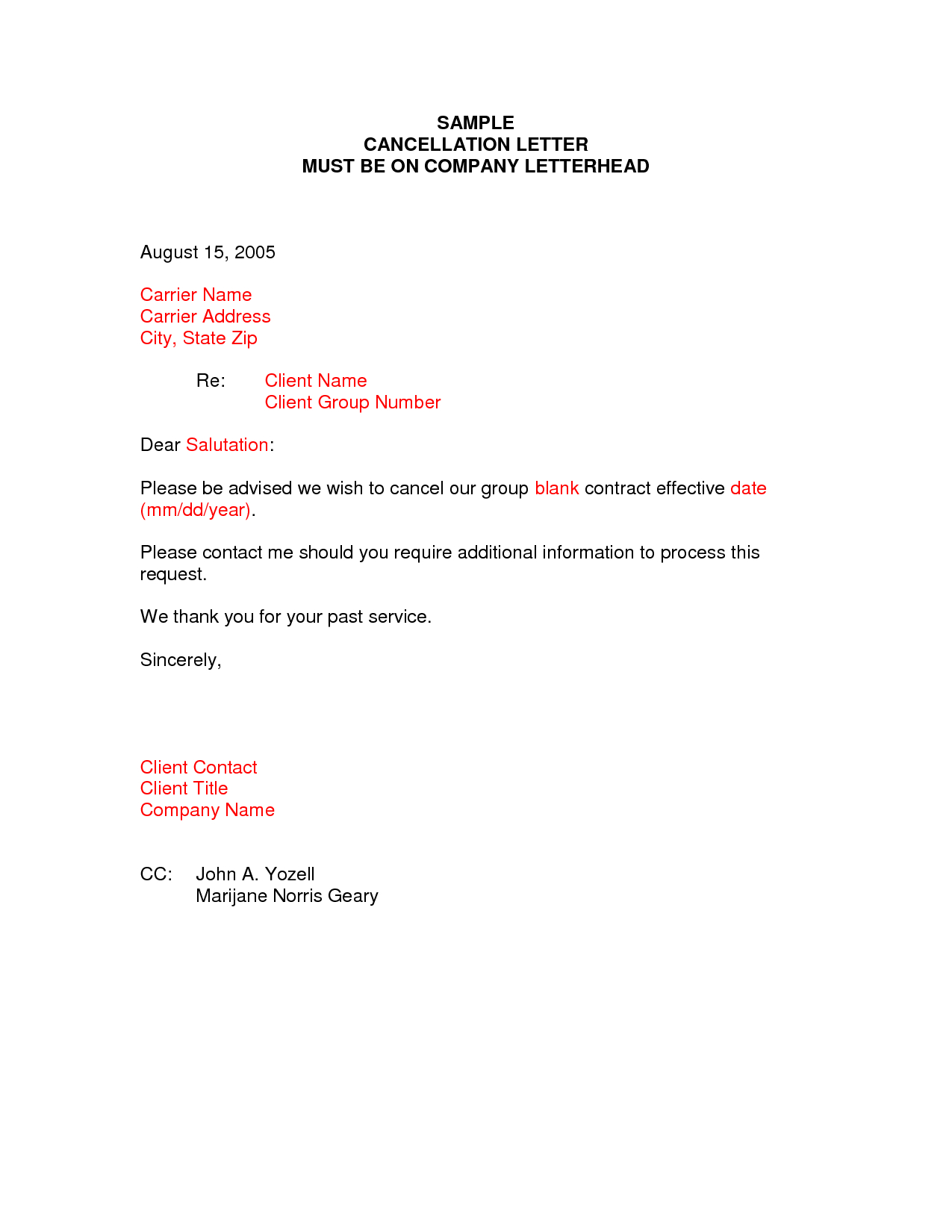 Contract Cancellation Letter Template Free - Sample Termination Letter format Business Case Examples Free Cover