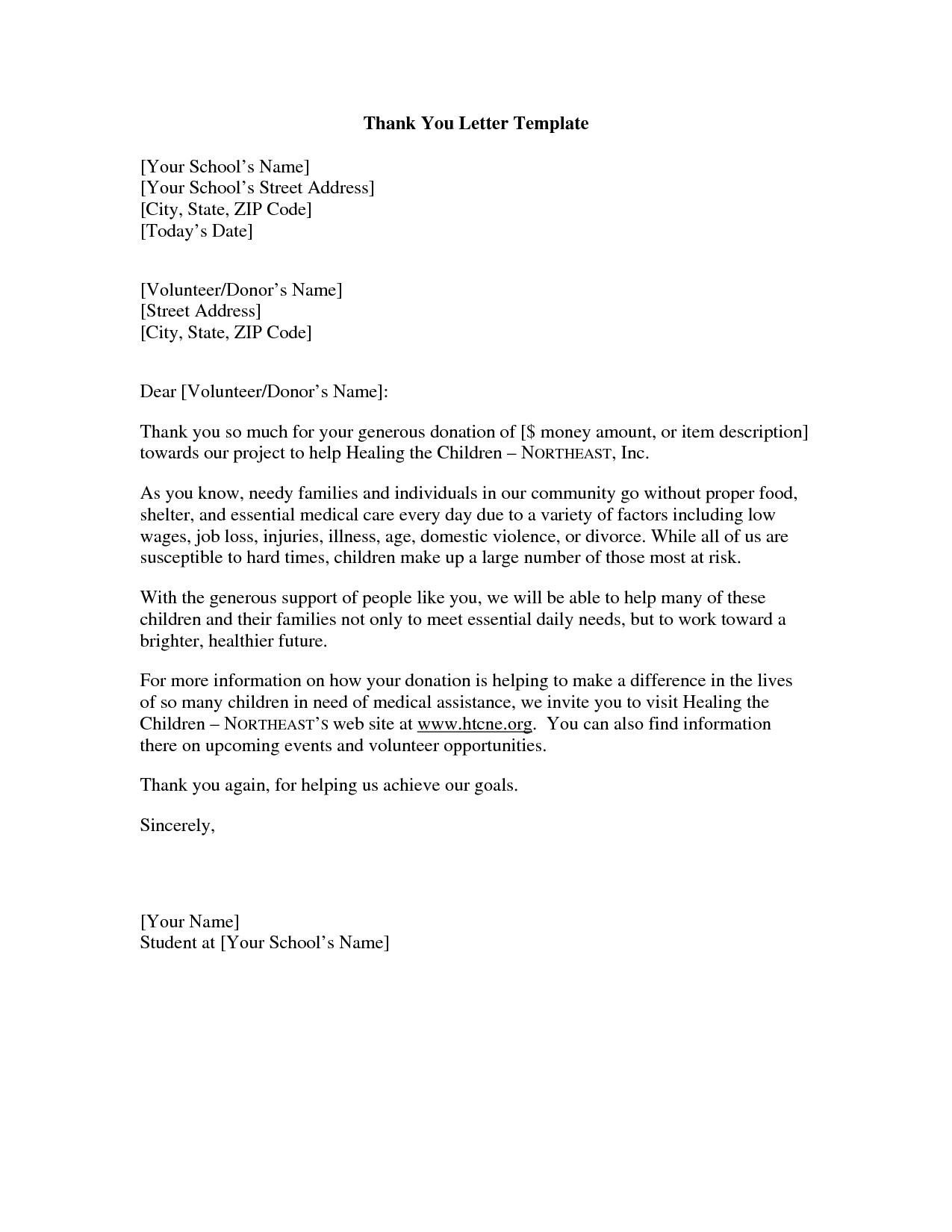 Food Donation Letter Template Examples Letter Cover Templates