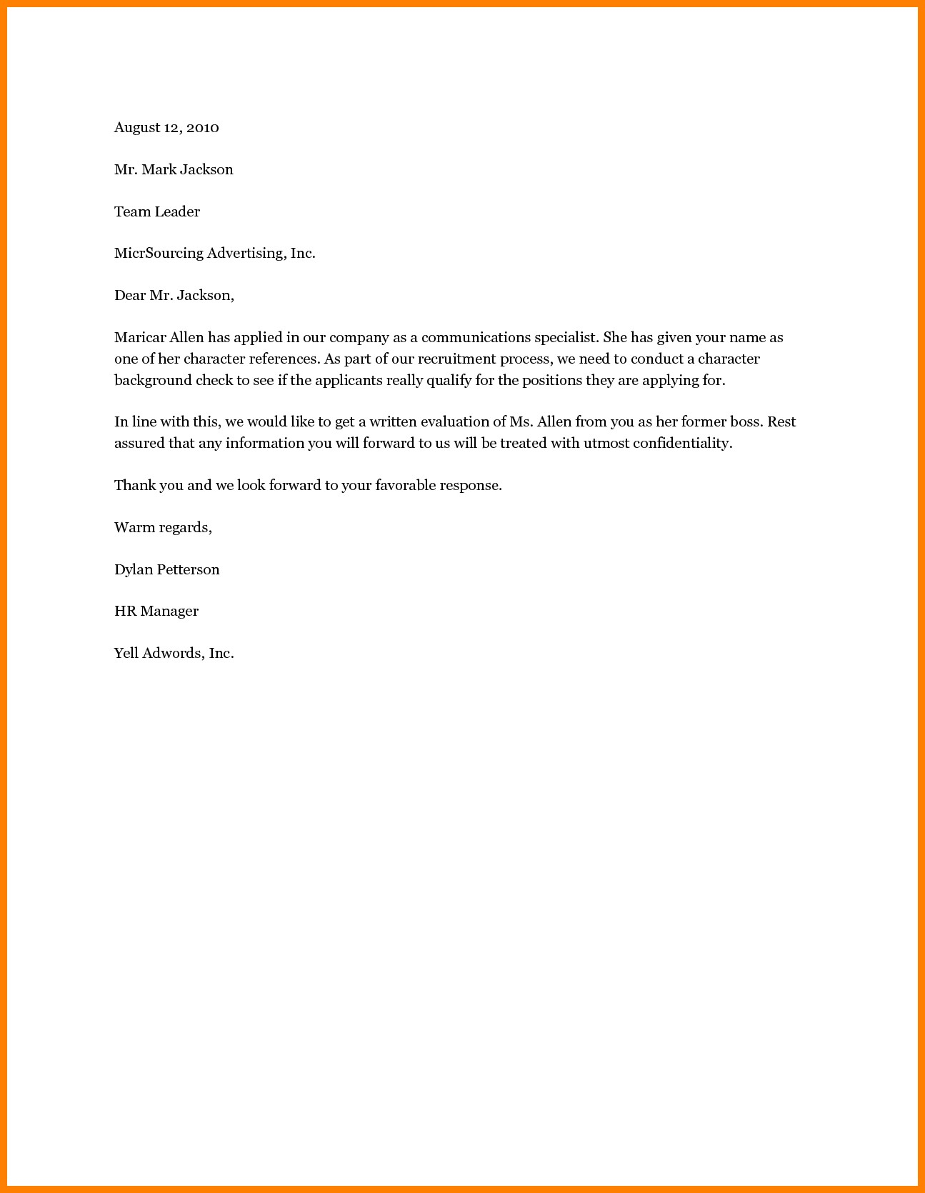 Free Character Reference Letter Template - Samples Certificate Good Moral Character Fresh 6 Good Moral