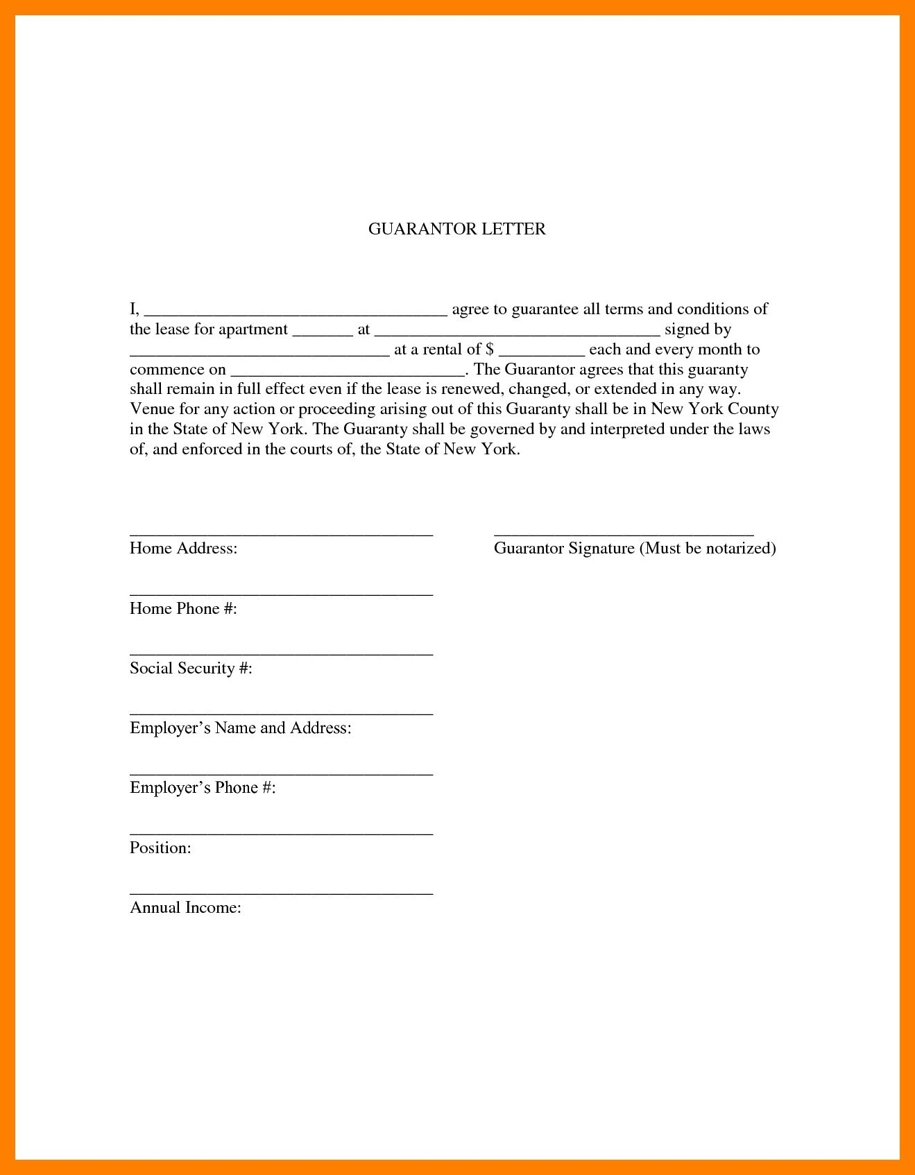 Tenant Guarantor Letter Template - Samples Guarantor Letter for Employment Best 5 Ways to Write A