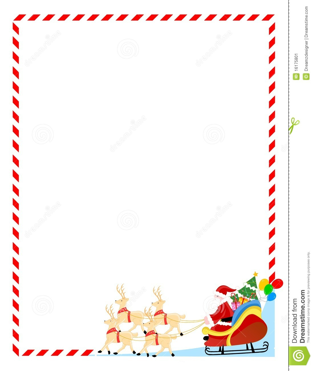 Christmas Letter Background Template - Santa Letter Borders Acurnamedia