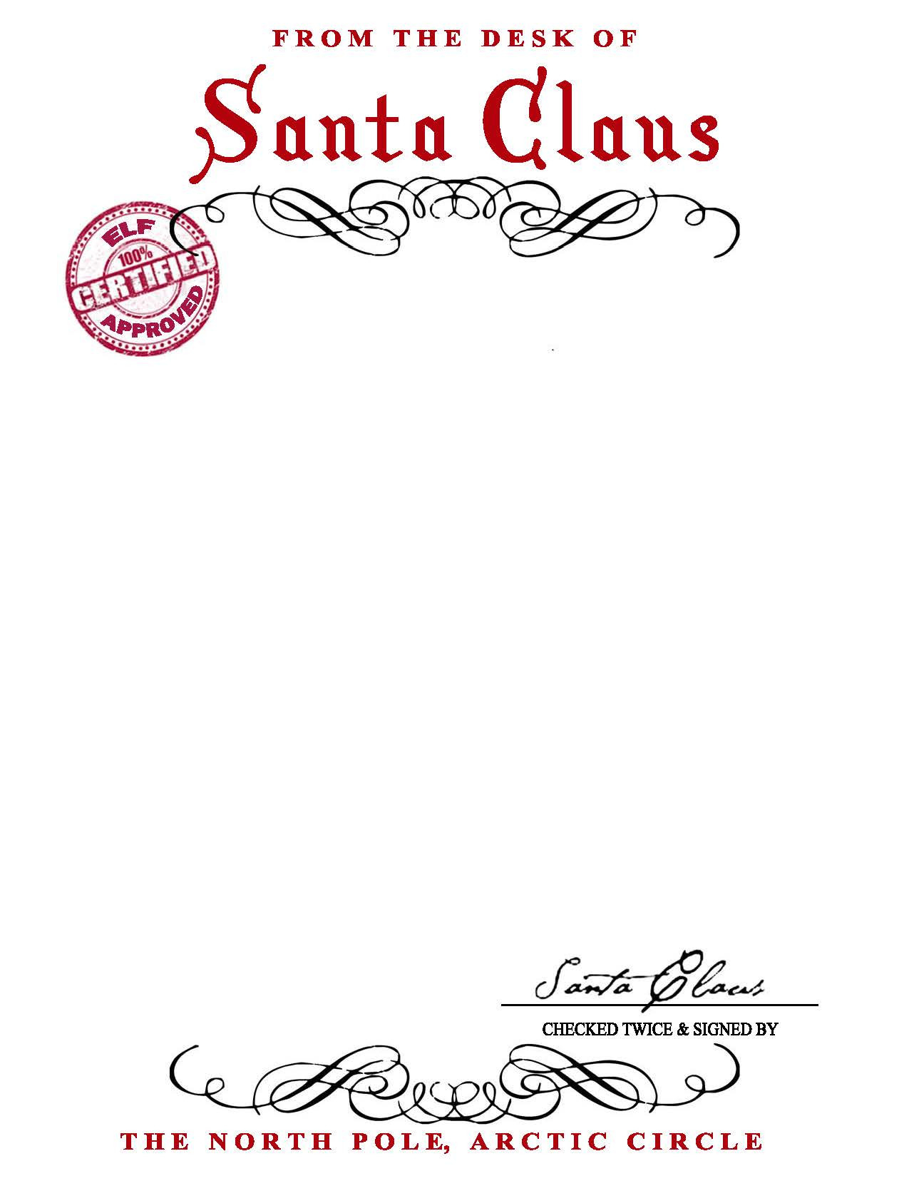 Official Letter From Santa Template - Santa Letter Template Word Doc Inspirational Letter From Santa