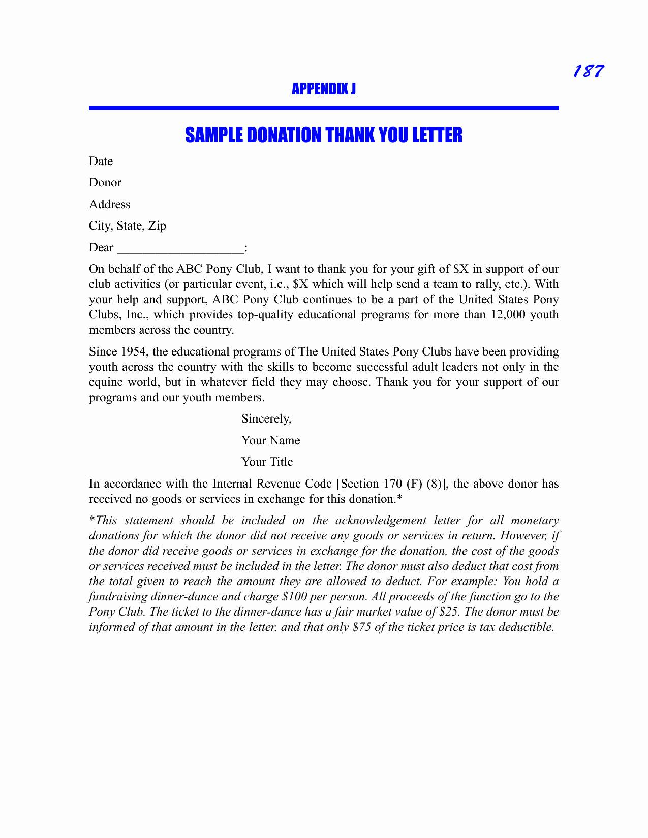 Thank You for Your Donation Letter Template - Scholarship Guidelines Template Fresh Donation Thank You Letters