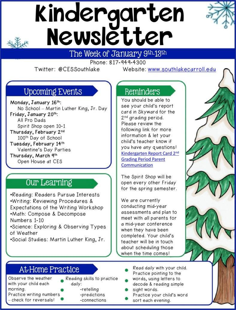 Weekly Letter to Parents Template - School Newsletter Templates Publisher School Newsletter Templates