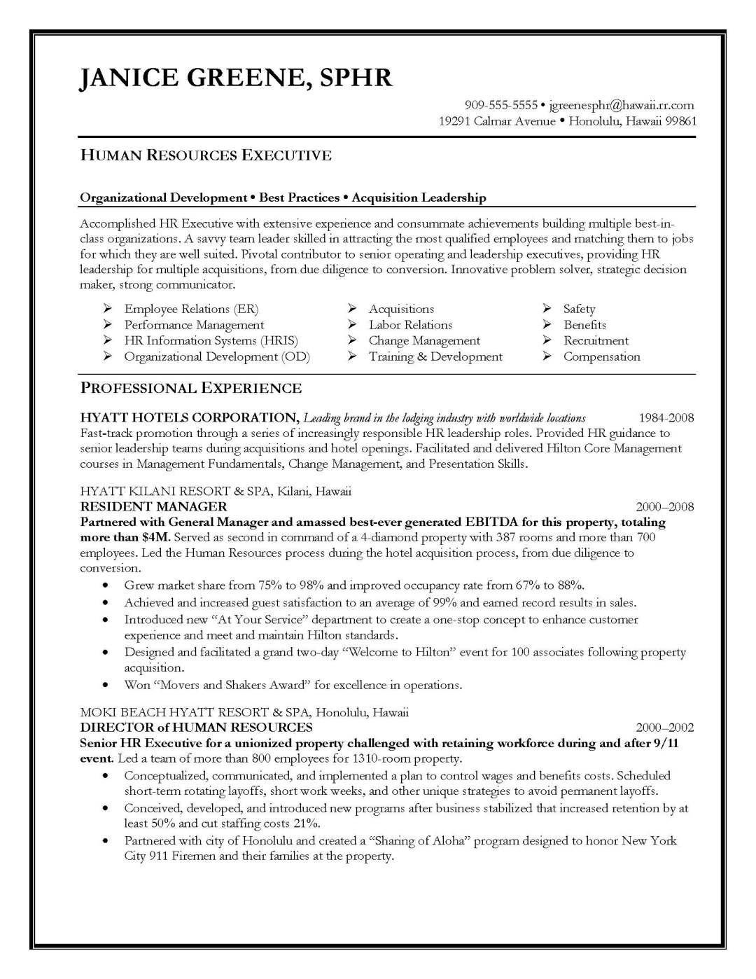 Cover Letter Template For Human Resources