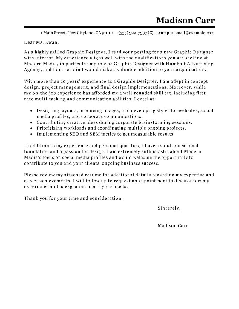Artist Cover Letter Template Samples | Letter Cover Templates