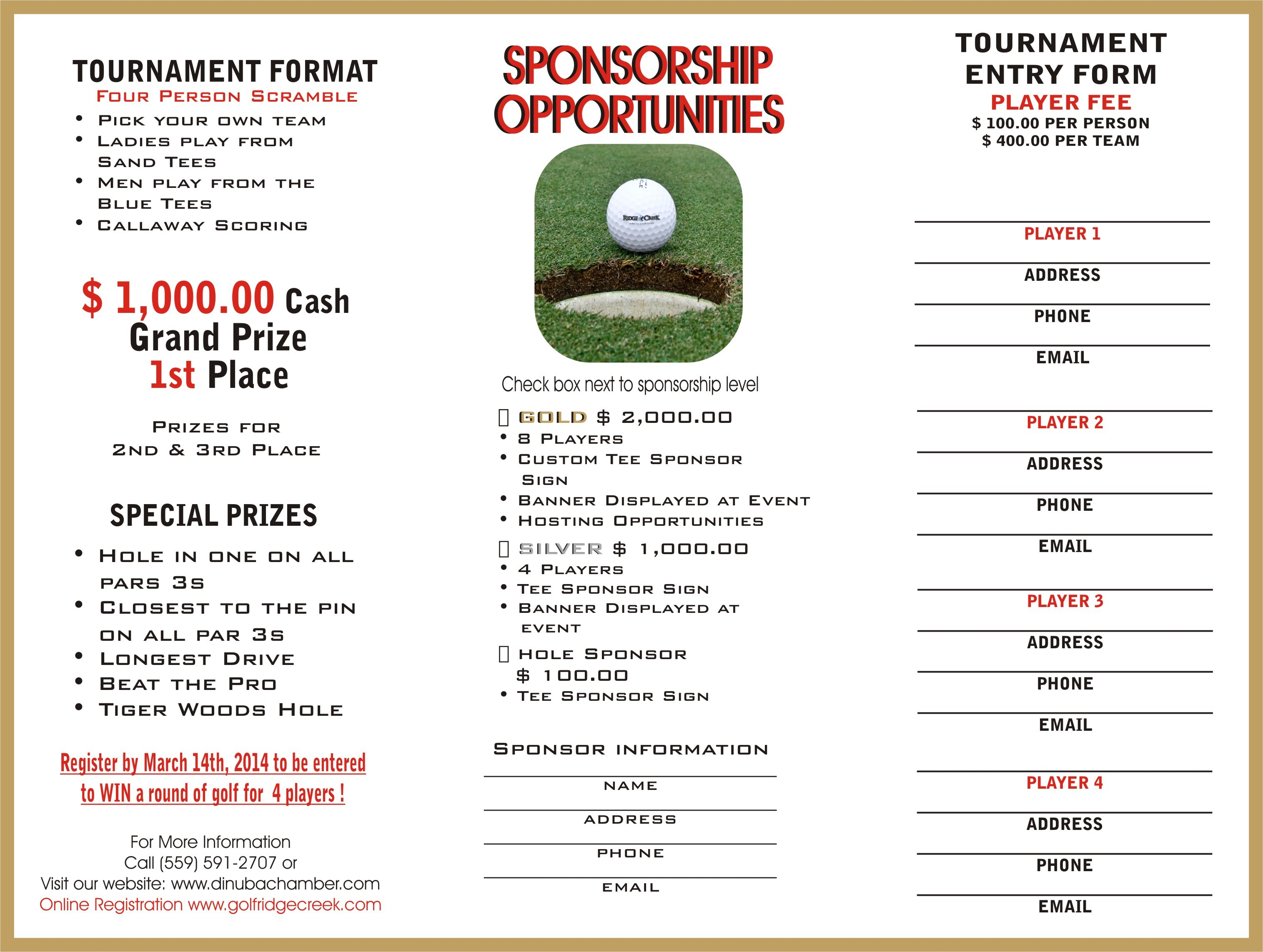 Golf tournament sponsorship letter template examples for Golf tournament program template