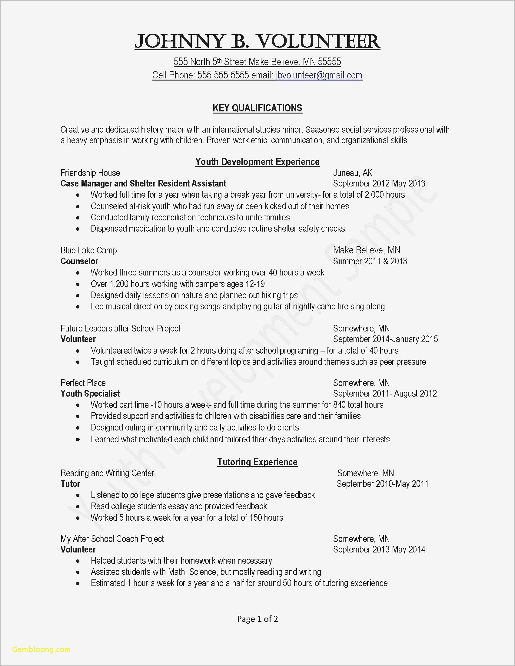 Free Sample Resume Cover Letter Template - Simple Cover Letter Examples for Resume