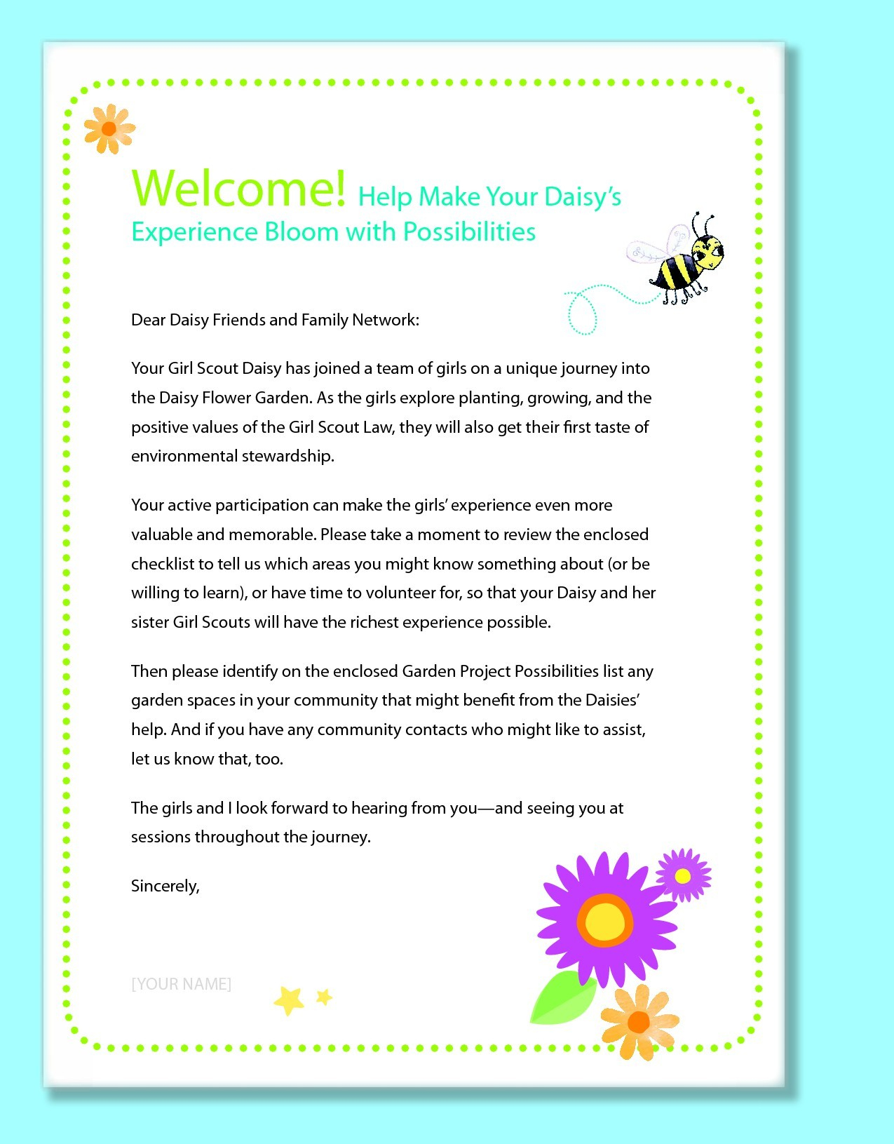Kindergarten Welcome Letter Template Collection Letter Cover Templates