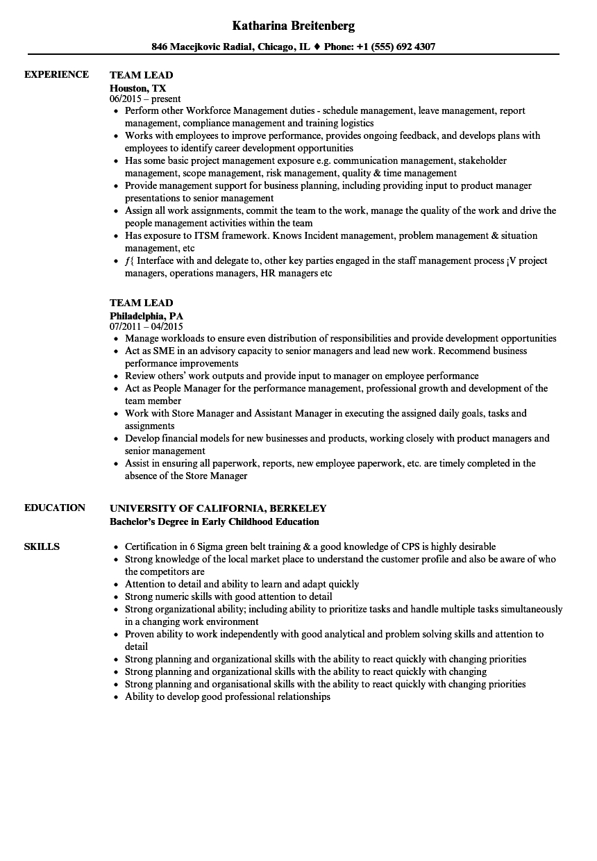 Reliance Letter Due Diligence Template - Team Lead Resume Samples