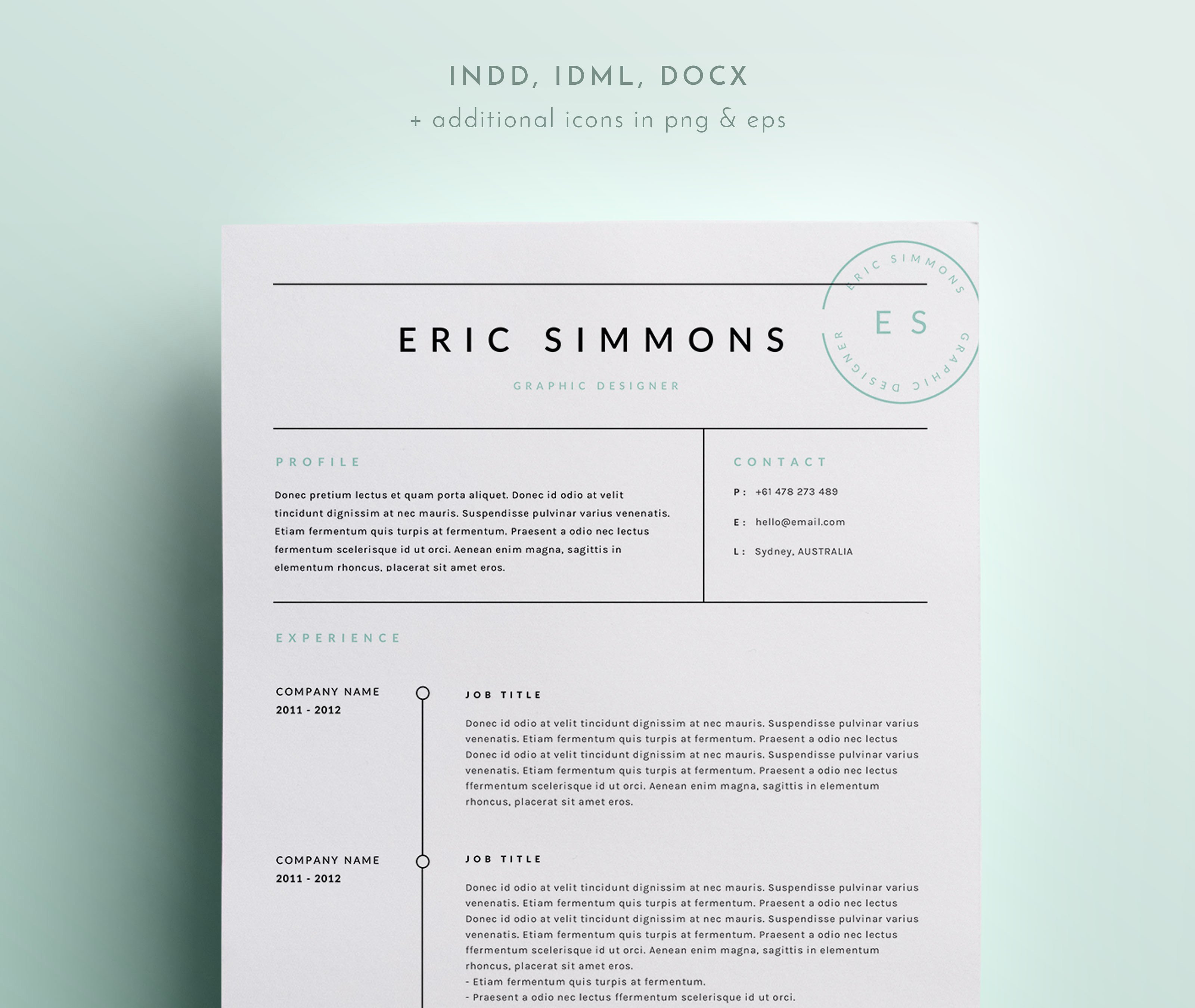 Indesign Cover Letter Template Collection