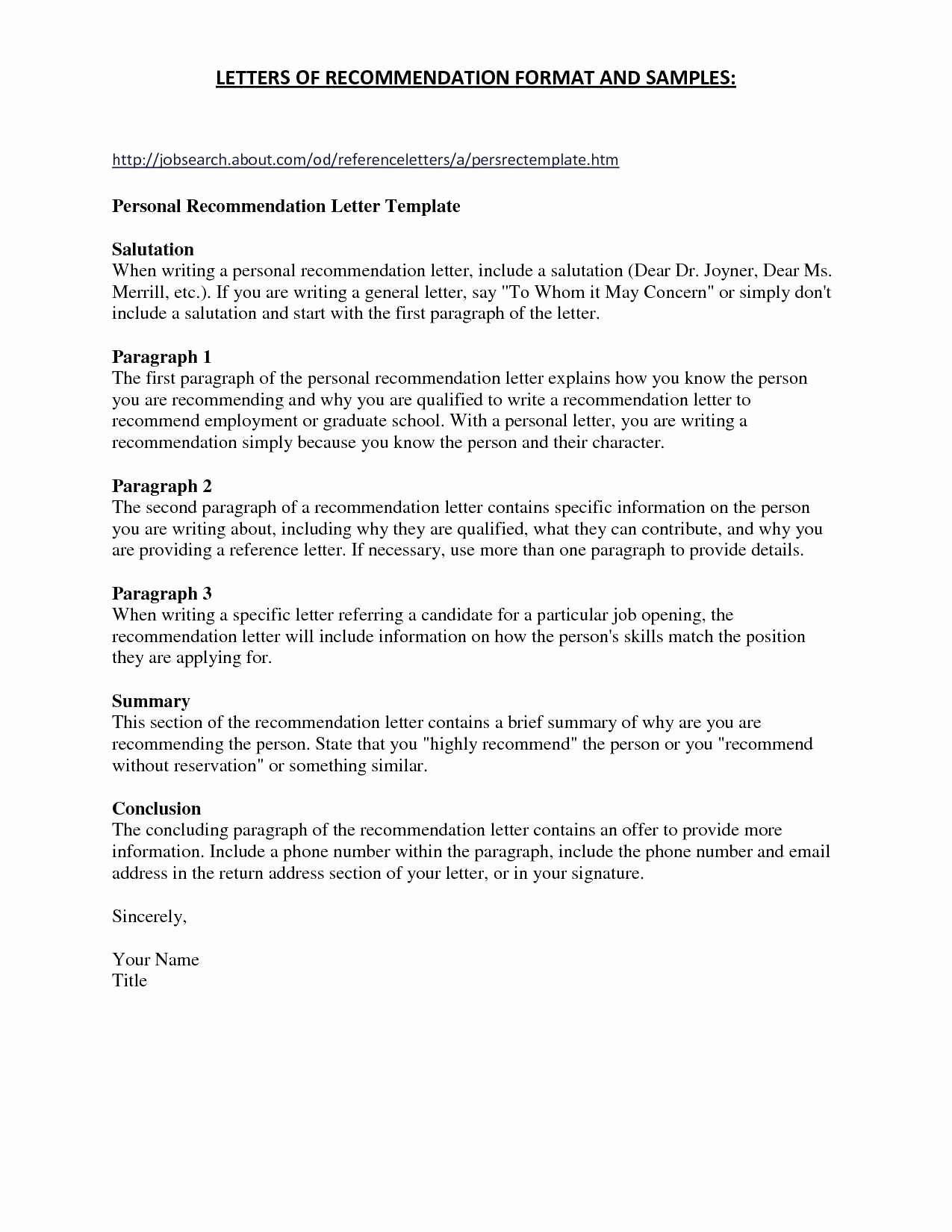 General Letter Of Recommendation Template - Temporary Custody Letter Template Luxury Power attorney Examples