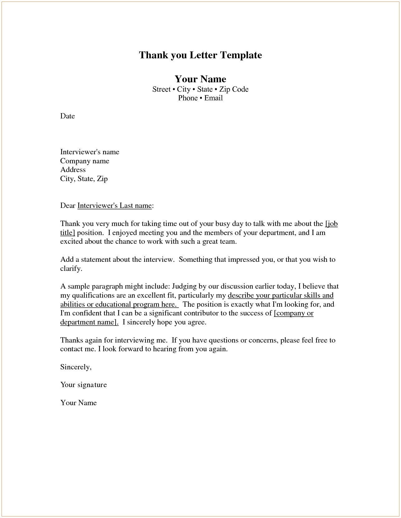 Thank You Letter Template - Thank You for Your Business Letter Template Save Http Jobsearch