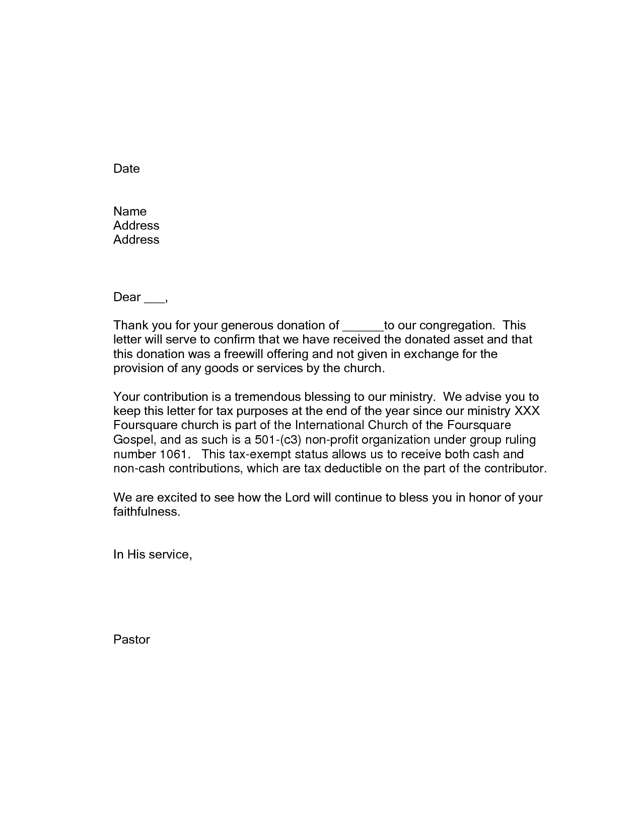 thank you letter for gift tax deductible donation thank you letter template examples 2042