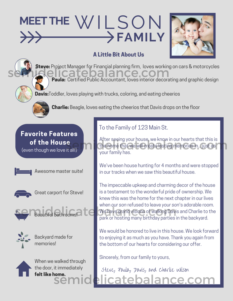 Letter to Home Seller From Buyer Template - the Epic Buyer Fer Letter that Won Us the House