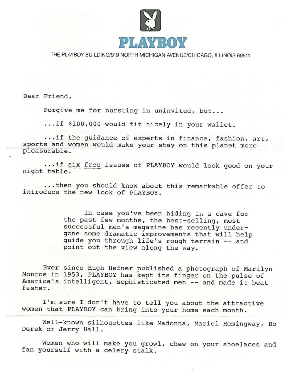 direct mail sales letter template example-This was my first of three winning direct mail sales letters for Playboy It won a Gold Folio Award 2-d