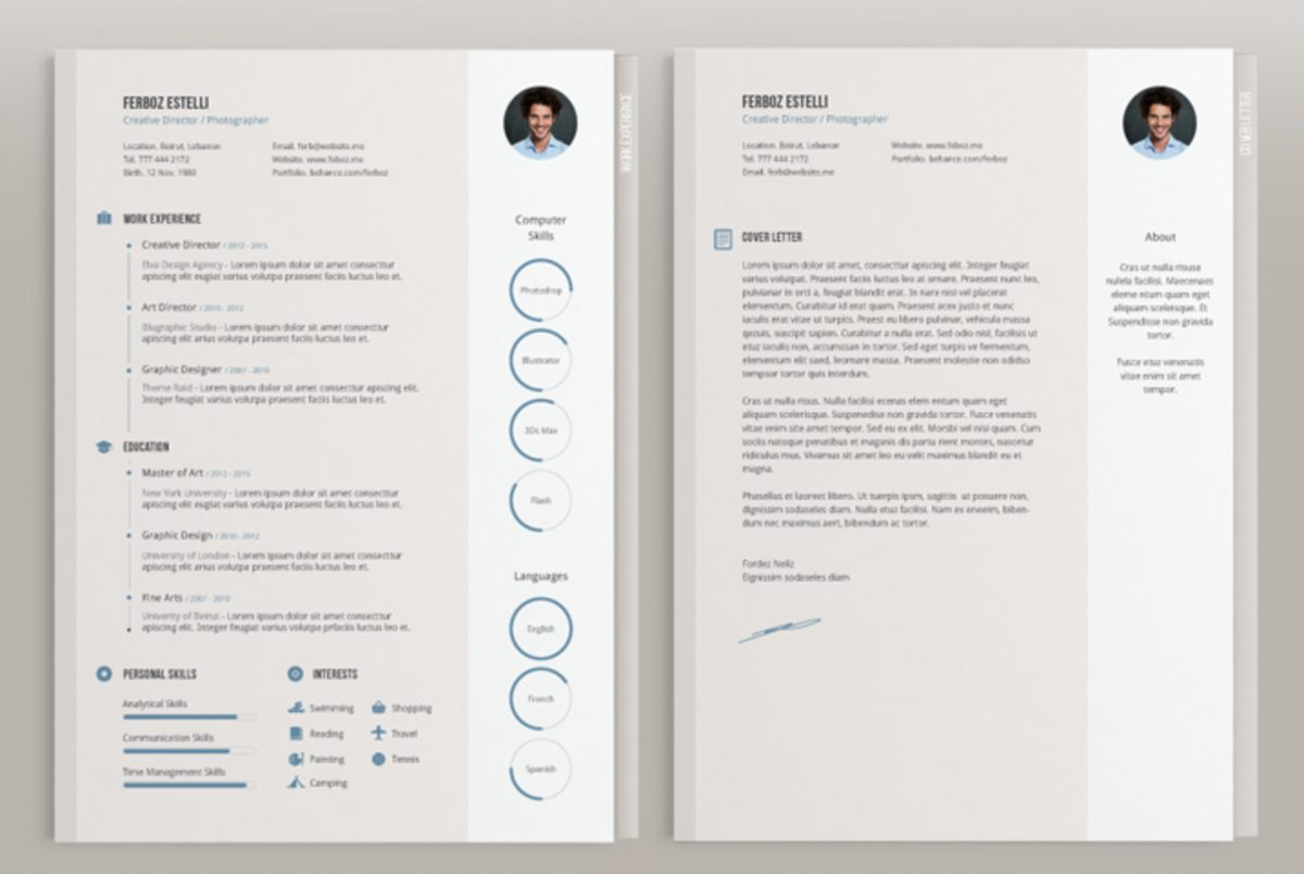 Indesign Cover Letter Template - top 26 Free Indesign Resume Templates Updated 2018 Resume Indesign