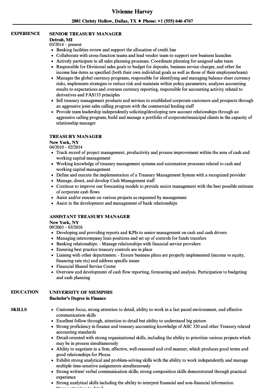 Aml Comfort Letter Template - Treasury Manager Resume Samples