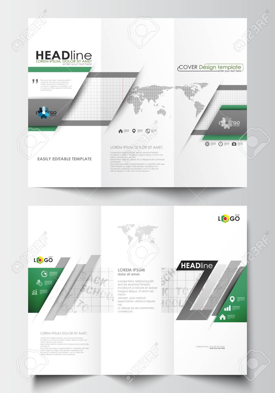 Tri Fold Letter Template - Tri Fold Brochure Business Templates Both Sides Easy Editable