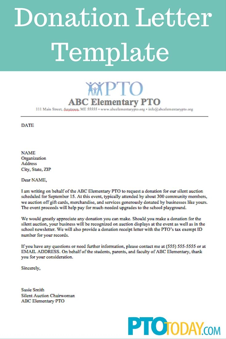 Tax Write Off Donation Letter Template - Use This Template to Send Out Requests for Donations to Support Your