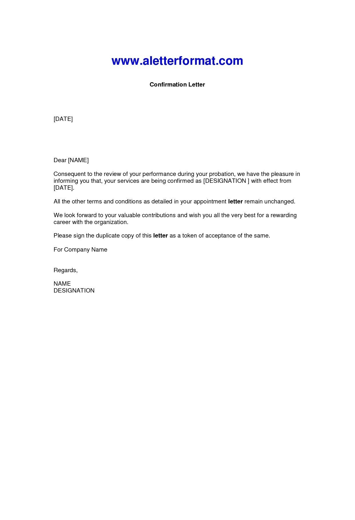 Confirmation Letter Template - Valid Request for A Job Confirmation Letter Sample
