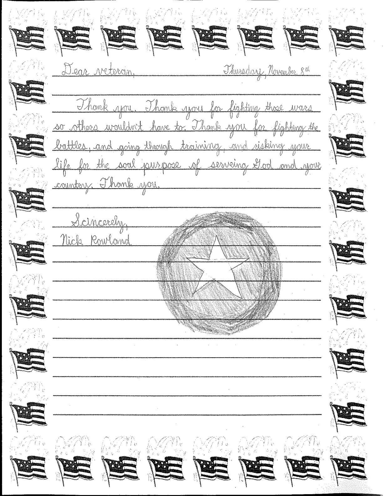 Veterans Day Letter Template - Veterans Day Thank You Letter Image Collections Letter format
