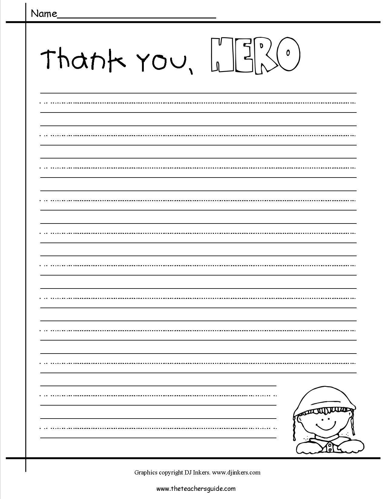 Veterans Day Letter Template - Veterans Day Thank You Letter Template