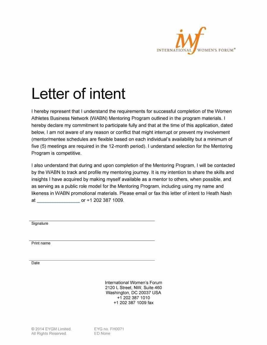 compassion international letter template Collection-Visit our page to learn how to write a letter of intent and letter of intent examples & templates 18-r