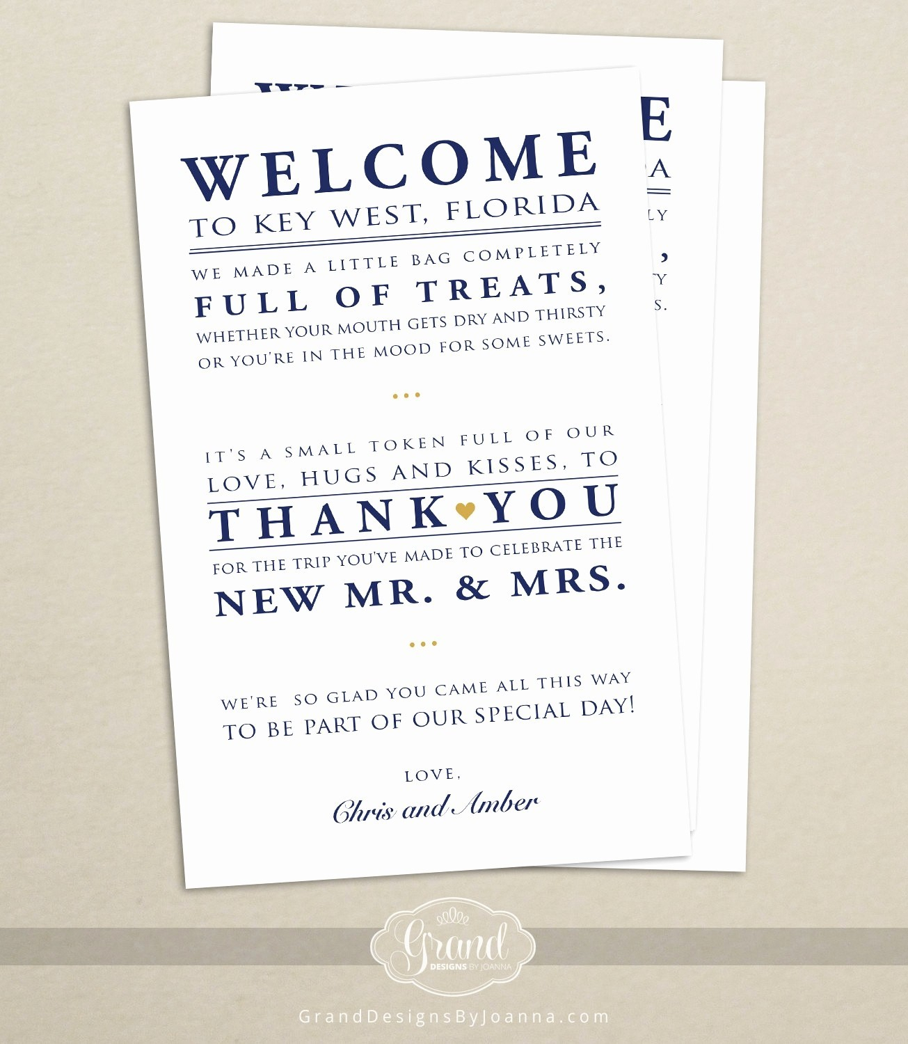 Welcome Bag Letter Template - Wel E Letter for Hotel Guests Wedding