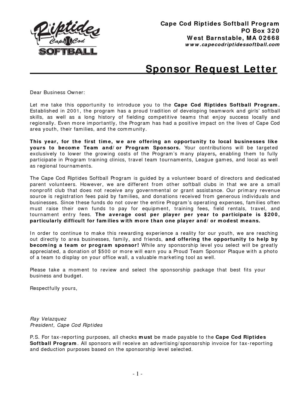 Baseball Sponsorship Letter Template - Well Liked Sample Sponsor Letter Yy55 – Documentaries for Change