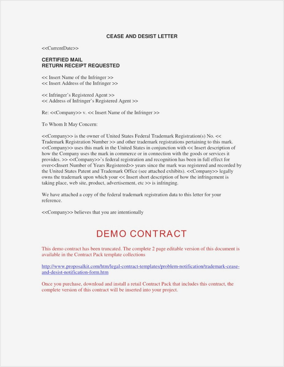 Free Cease and Desist Letter Template for Harassment - What is A Cease and Desist Letter Professional Sample Cease and