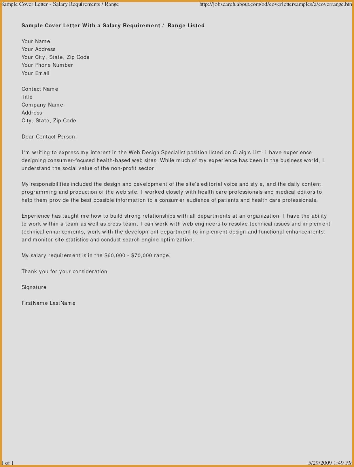 Letter Intent Email Template Collection