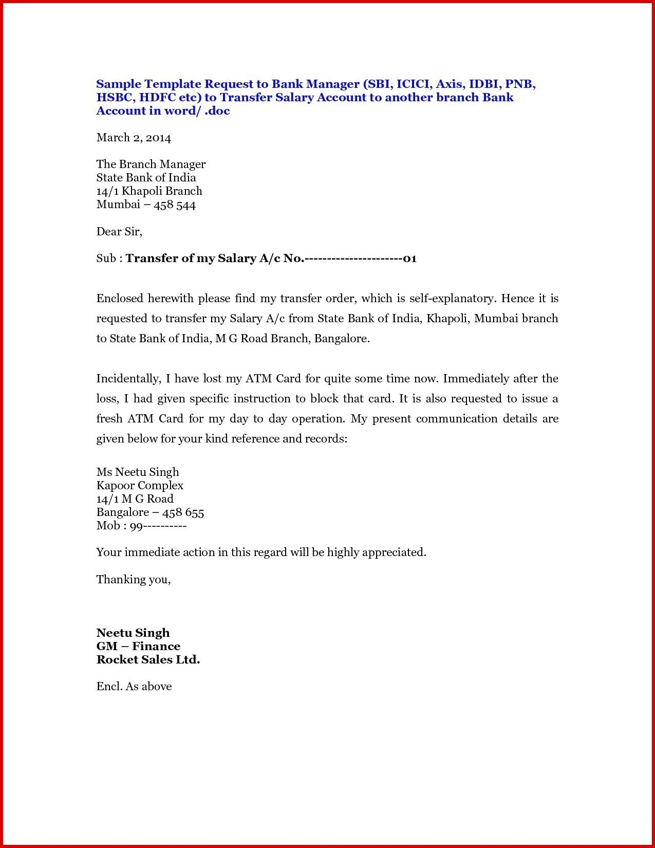 Letter Of Instruction Template Stock Transfer - whomsoever It May Concern Letter format for Pany Copy Salary