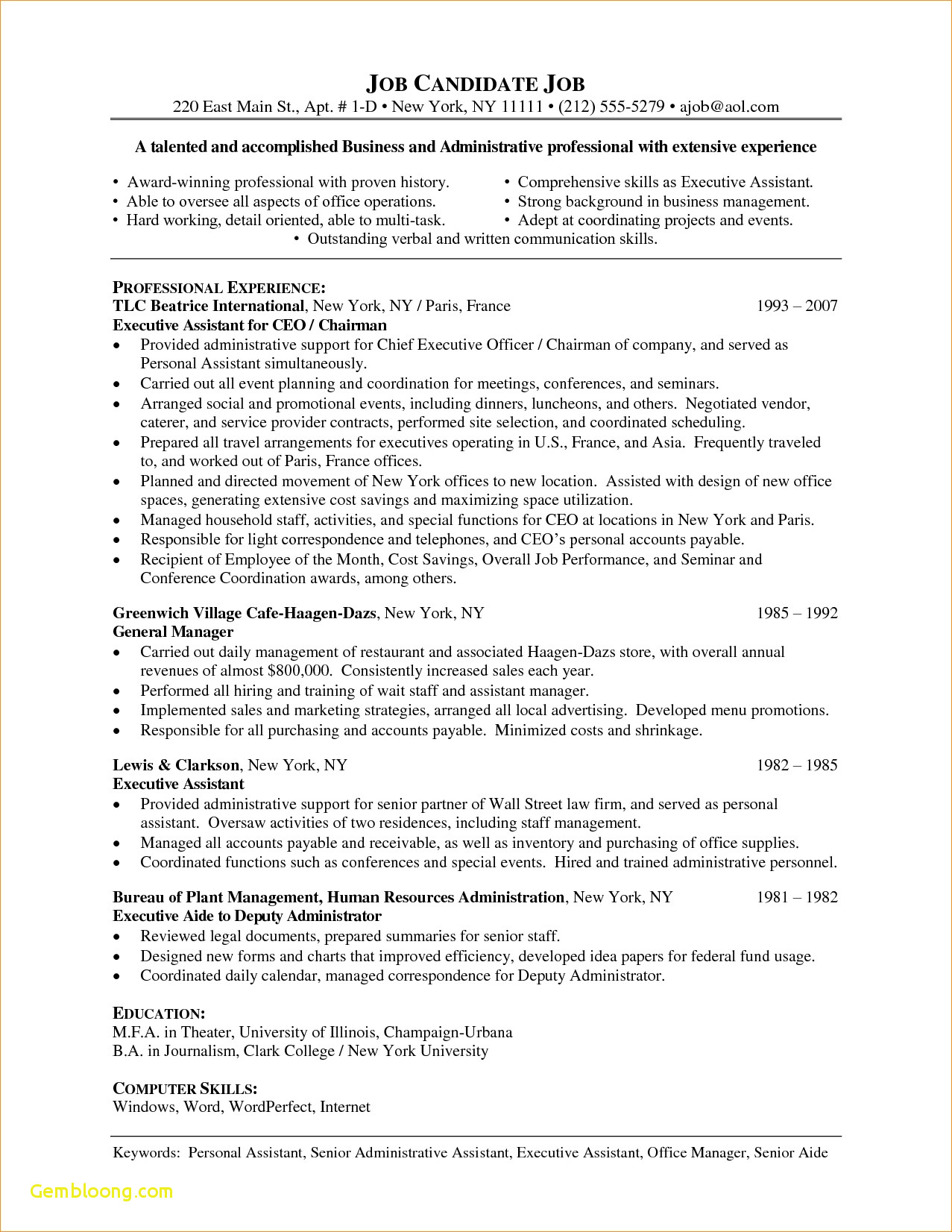 Theatre Cover Letter Template Collection