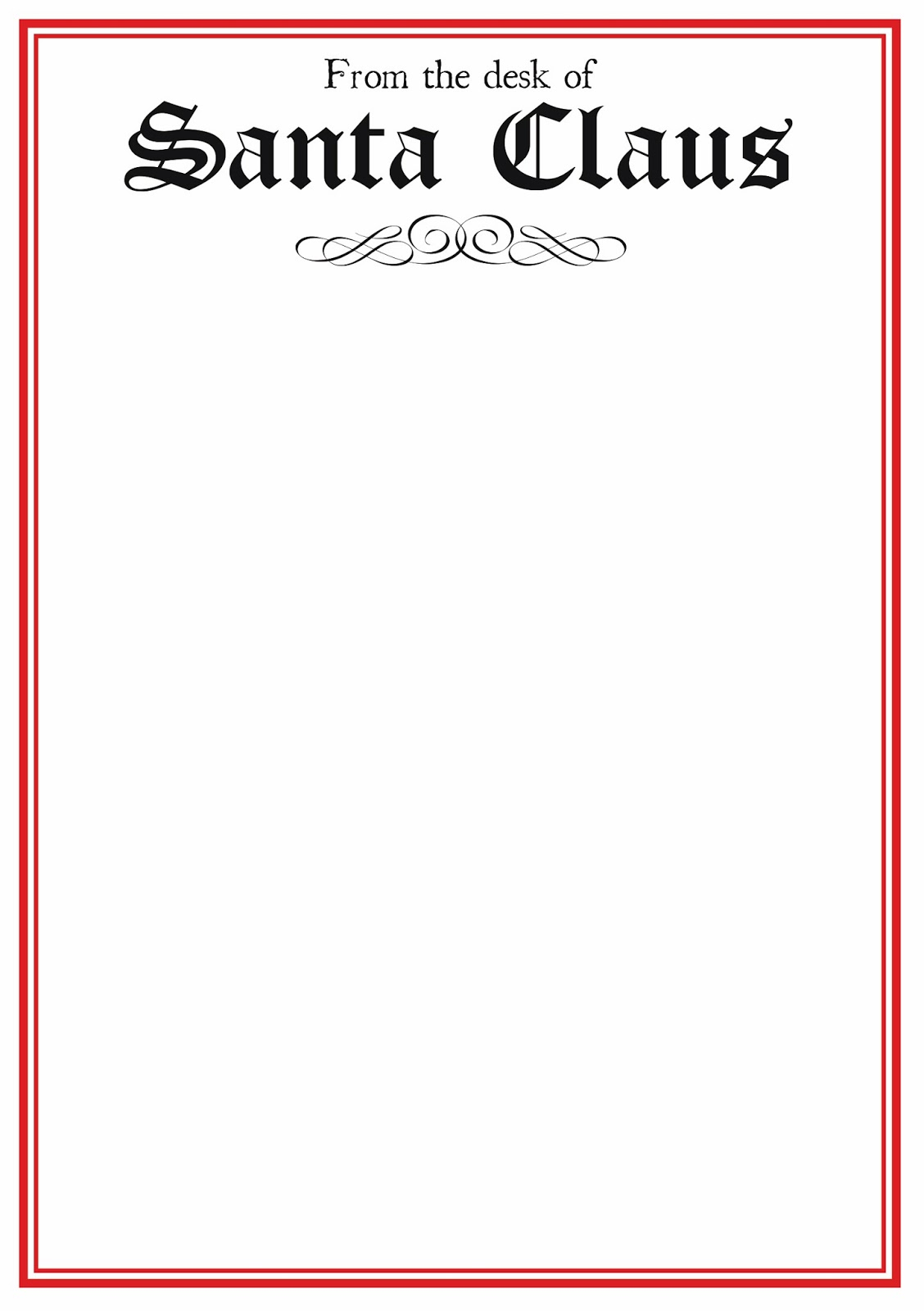 free printable letter from santa template word Collection-word santa letter template 19-k