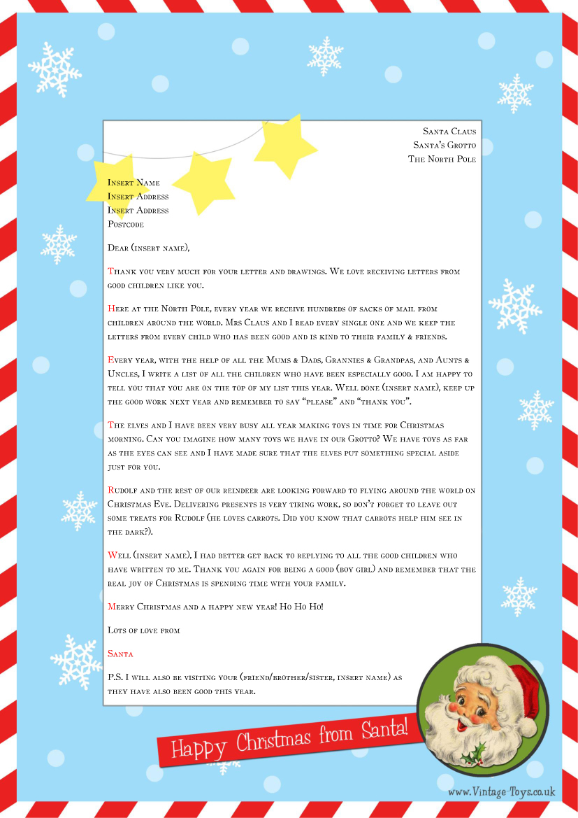 santa reply letter template example-word santa letter template 10-g