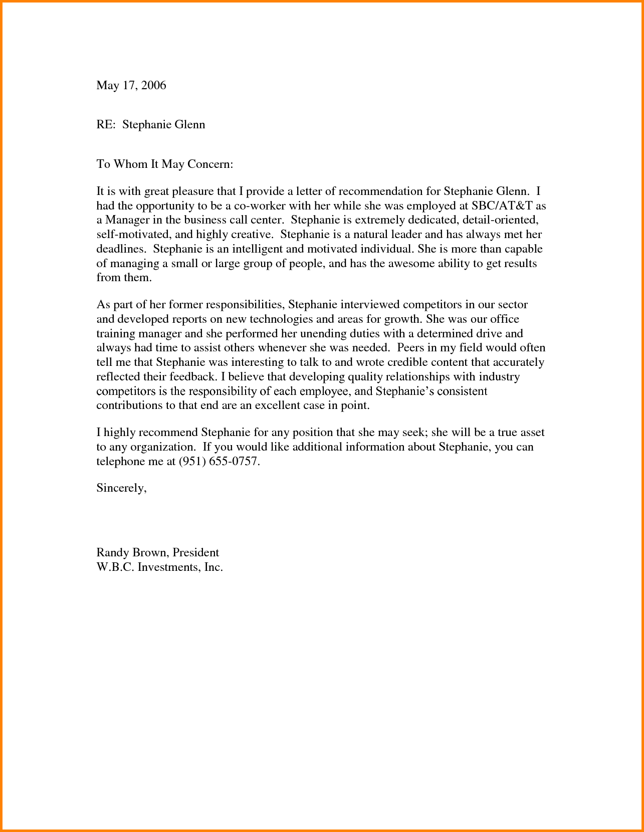 template for writing a letter of recommendation for a coworker samples